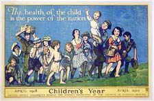 The official poster for the Chidren's Year Campaign, ca. 1918